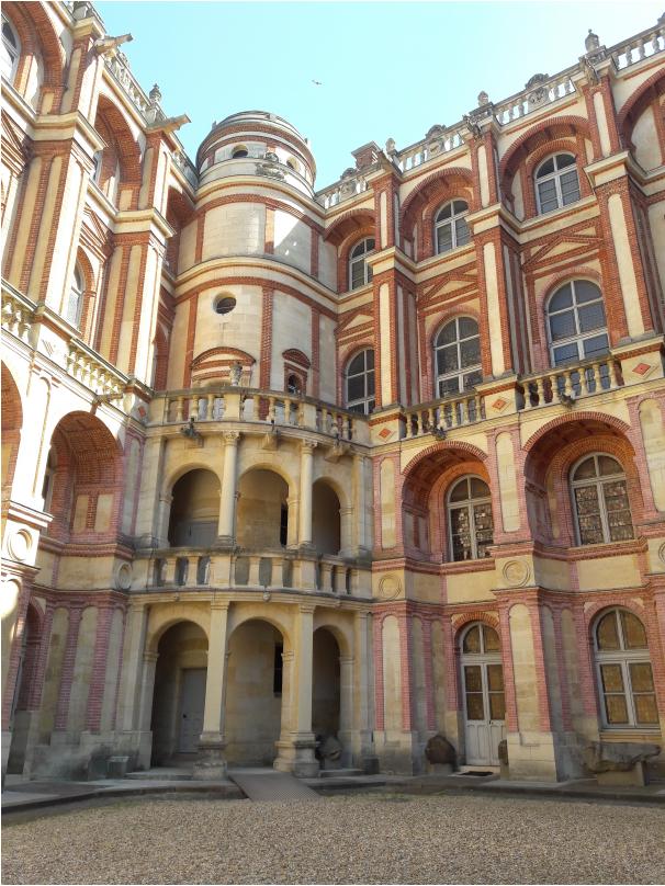 La cour du château de Saint-Germain-en-Laye