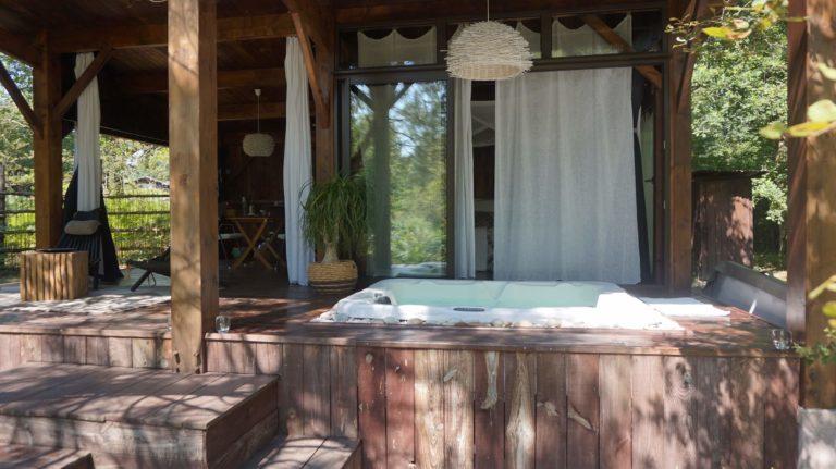 cabane Landines tout confort luxe et spa