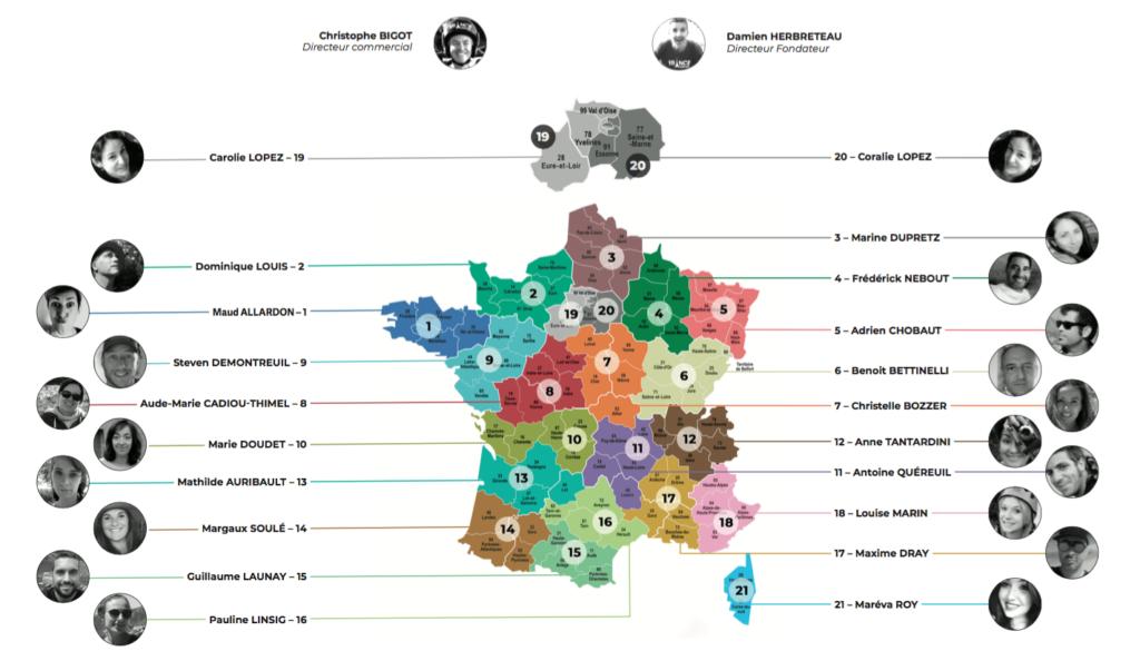carte-départements secteur éditorialistes touristiques régionaux ETR France Week-end