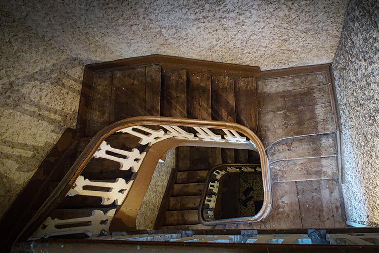 Escalier Chateau d'Arcis