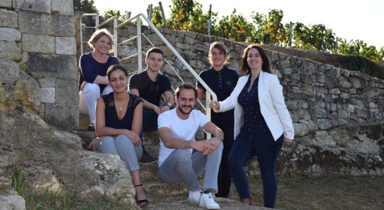 Château Tour Saint Christophe : appellation St-Emilion photo équipe oenotourisme 2019