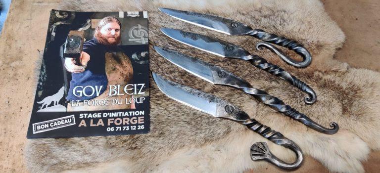 la forge du loup plouezoc'h finistere Bretagne Morlaix Viking couteaux